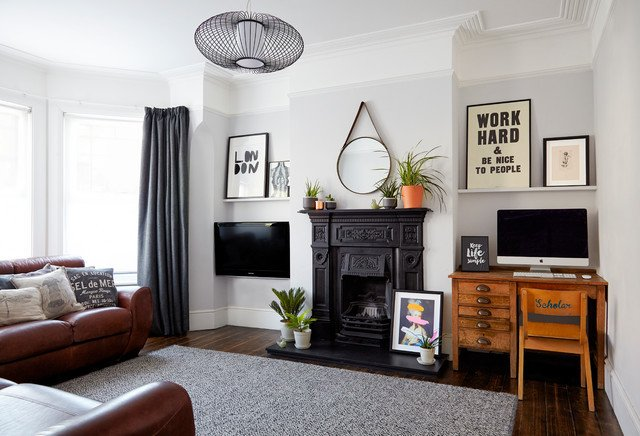 Contemporary Traditional Living Room Beautiful Modern Period Living Traditional Living Room London by Born & Bred Studio