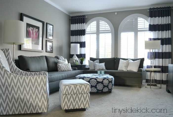 Contemporary Traditional Living Room Luxury Bold and Bright Living Room Makeover before & after