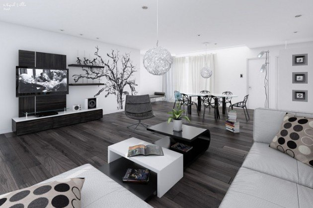 Contemporary White Living Room Best Of 20 Wonderful Black and White Contemporary Living Room Designs