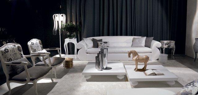 Contemporary White Living Room Lovely Luxury Oversized White sofa Black and White Modern Living Room