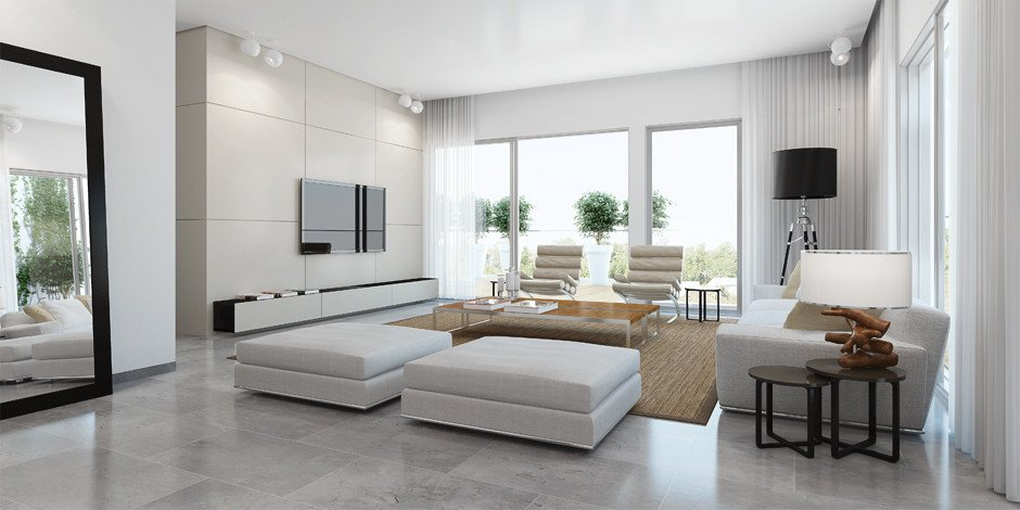 Contemporary White Living Room Luxury ando Studio Designs Inside & Out