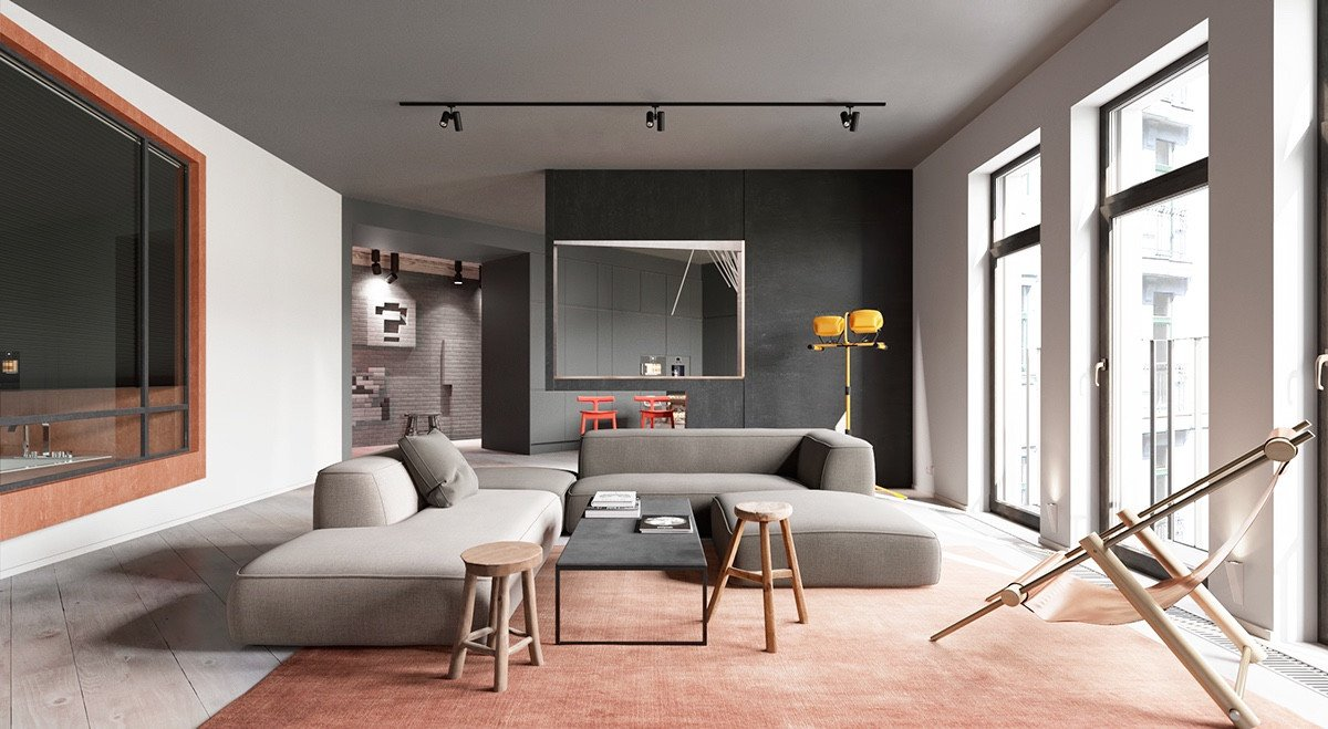 Cool Cheap Decorating Ideas Modern Living Room Luxury A Sleek Apartment Interior Design with Modern and Unique Decor Brimming A Coziness