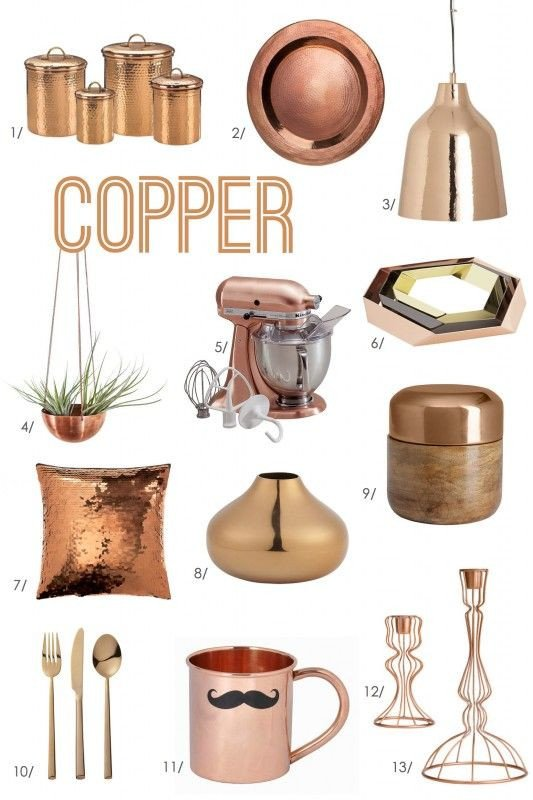 Copper Home Decor and Accessories Luxury for the Love Of Color Copper