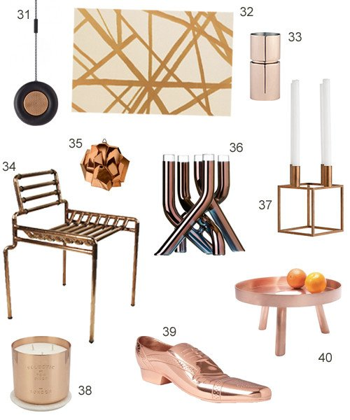 Copper Home Decor and Accessories Luxury Get the Look 40 Modern Copper Home Accessories Stylecarrot
