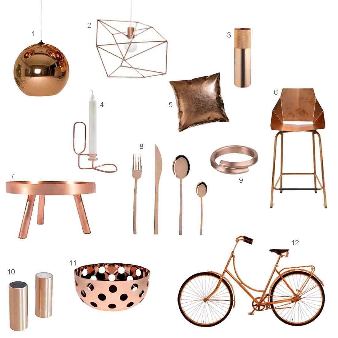 Copper Home Decor and Accessories Unique Roundup 12 Modern Copper Accessories Design Milk