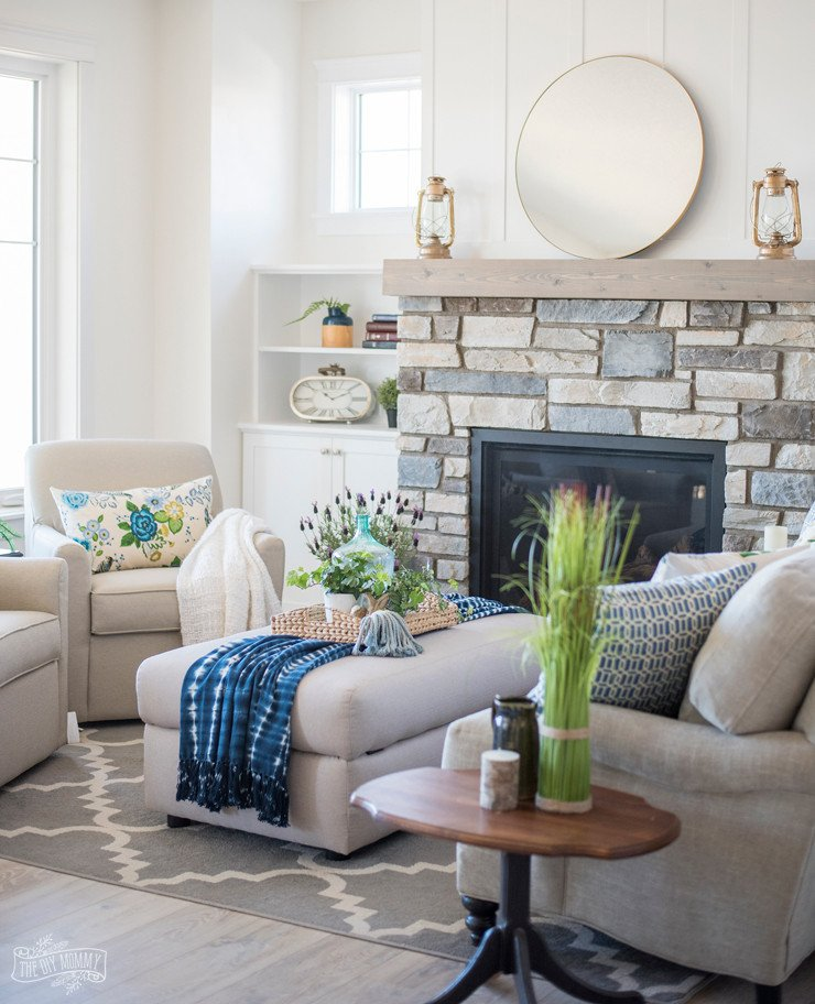 Cottage Living Room Ideas Lovely Traditional Coastal Cottage Living Room Reveal – Mom's Lake House