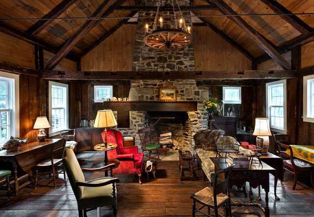 Cottage Traditional Living Room Awesome Writers Cottage Traditional Living Room New York by Crisp Architects