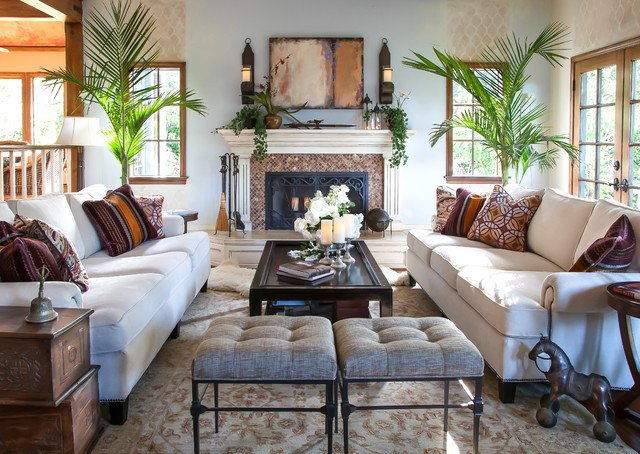 Cottage Traditional Living Room Beautiful English Cottage Living Room Traditional Living Room Santa Barbara by Maraya Interior Design