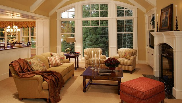 Cottage Traditional Living Room Beautiful New Home Construction Cottage Style Traditional Living Room Minneapolis by Letitia