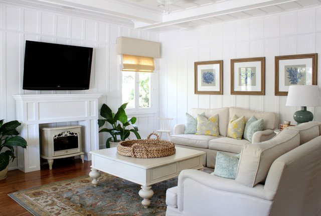 Cottage Traditional Living Room Inspirational Beach Cottage Traditional Living Room orange County by Squarefoot Interior Design