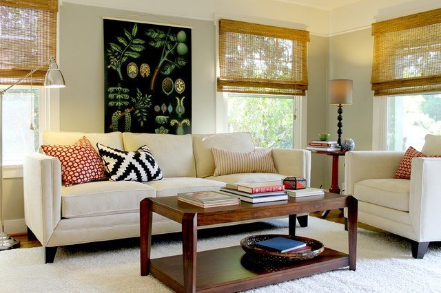 Cottage Traditional Living Room Inspirational Botanical Chart In Cottage Style Bungalow Traditional Living Room Los Angeles by Madison