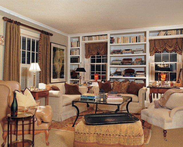 Cottage Traditional Living Room Inspirational English Cottage Traditional Living Room New York by Belle Maison Interior Design