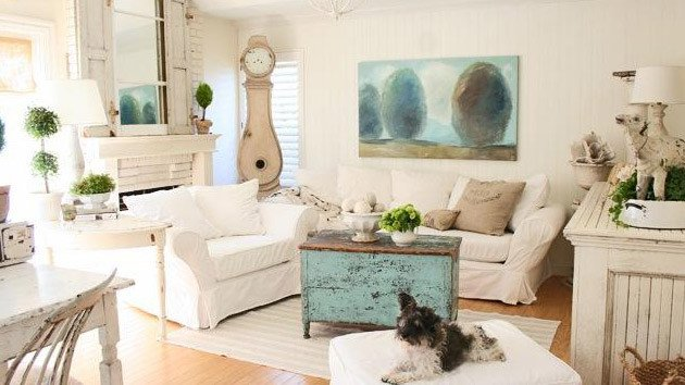 Country Chic Living Room Decor Awesome Distressed yet Pretty White Shabby Chic Living Rooms