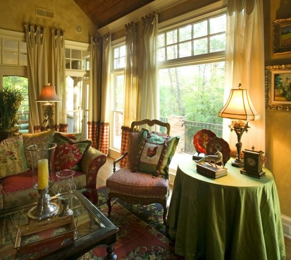 Cozy Country French and fortable Country French Keeping Room Living Rooms Design