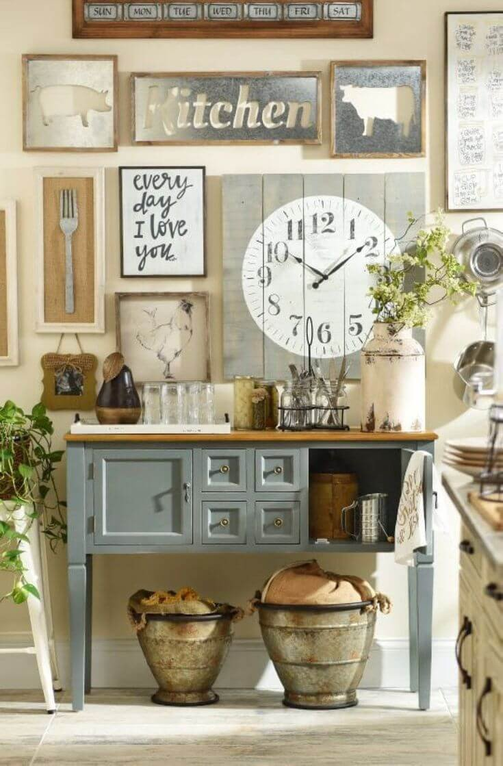 Country Kitchen Wall Decor Ideas Awesome 27 Best Country Cottage Style Kitchen Decor Ideas and Designs for 2019
