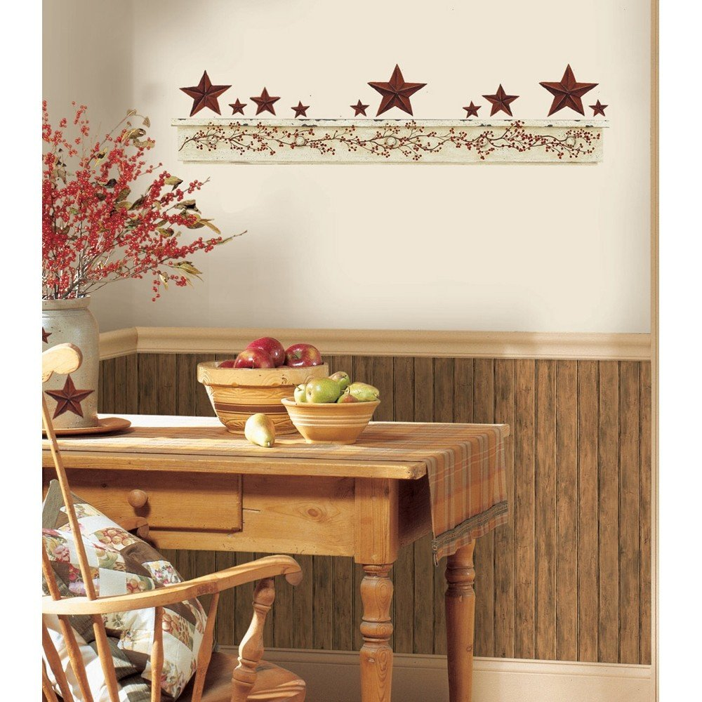 Country Kitchen Wall Decor Ideas Awesome New Primitive Arch Wall Decals Country Kitchen Stars Berries Stickers Decor