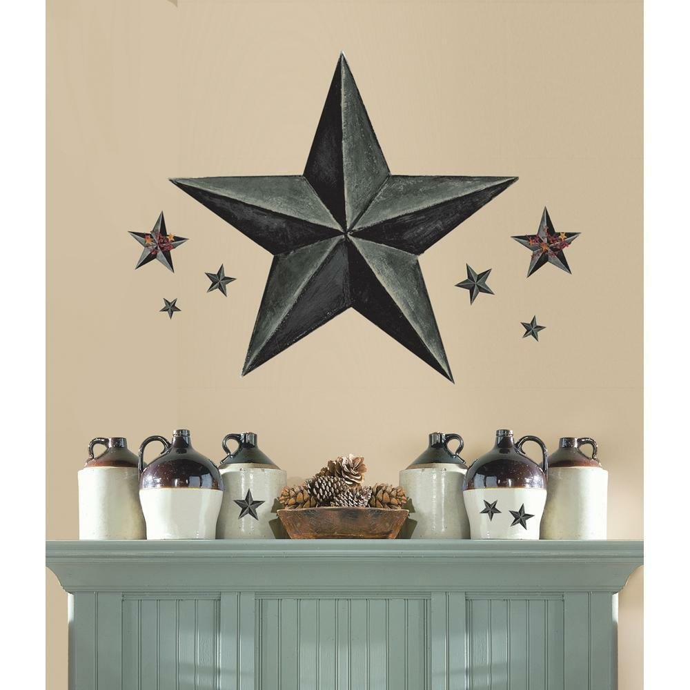 Country Kitchen Wall Decor Ideas Best Of New Giant Slate Gray Barn Star Wall Decals Country Kitchen Stars Stickers Decor