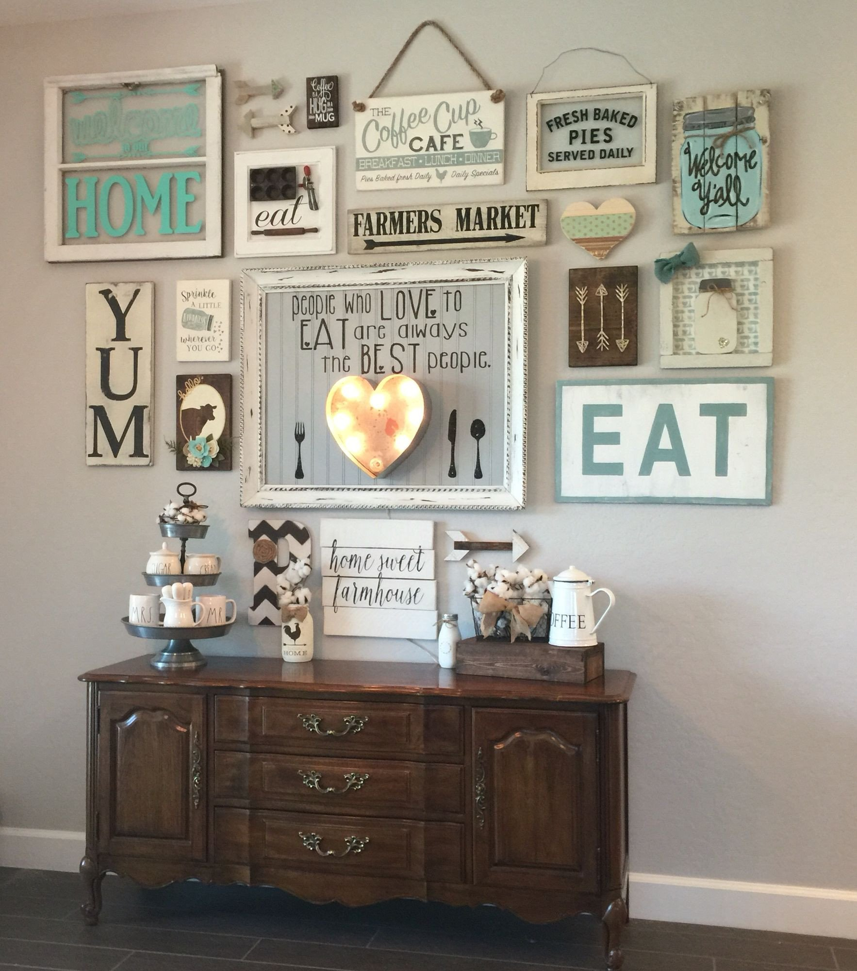 Country Kitchen Wall Decor Ideas Unique My Gallery Wall In Our Kitchen I M Colewifey On Ig E Follow Me and See How I Continue to