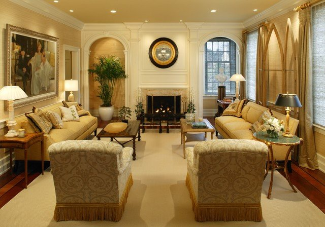 Country Traditional Living Room Luxury Country Estate I