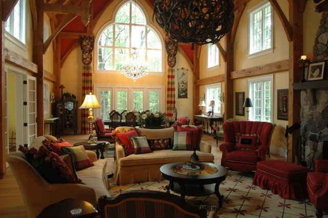 Country Traditional Living Room New English Country Cottage Traditional Living Room Detroit by Periwinkle Designs