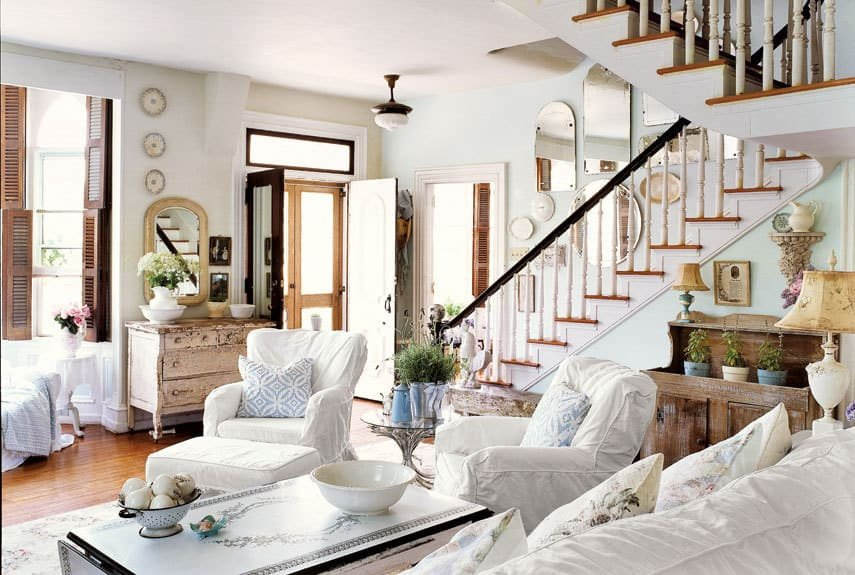 Cozy Comfortable Living Room New Home Inspiration Cozy Family Rooms and Bedrooms Burlap and Blue