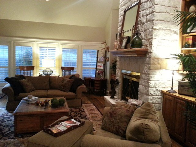 Cozy Traditional Living Room Beautiful Cozy Antique Filled Living Room