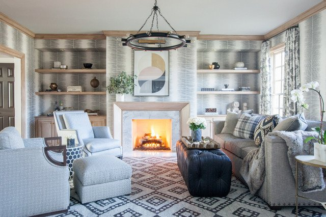 Cozy Traditional Living Room Beautiful Cozy Chic Traditional Living Room Baltimore by Elizabeth Reich