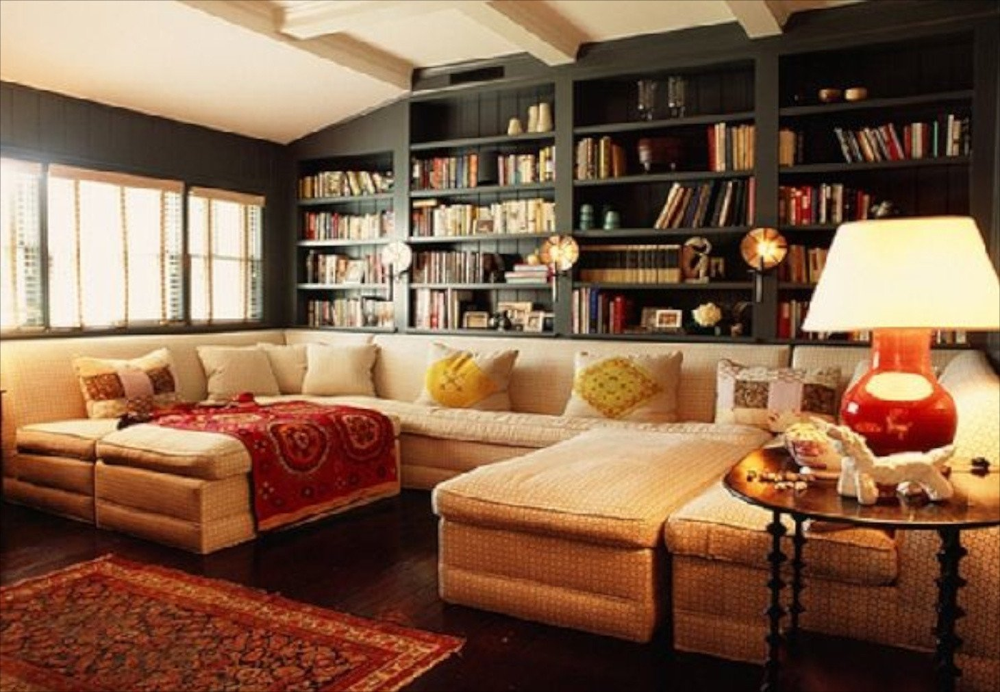 Cozy Traditional Living Room Luxury 23 sofas and Bookcase Ideas In Cozy Living Room Design with Mixture Classic and Modern Styles Whg