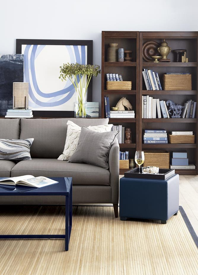 Crate and Barrel Home Decor Unique Bookcase Decorating Ideas