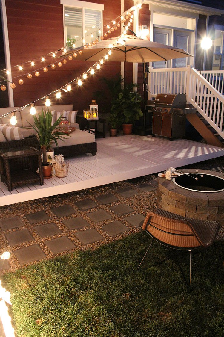 Deck Decor On A Budget Awesome How to Build A Simple Diy Deck On A Bud