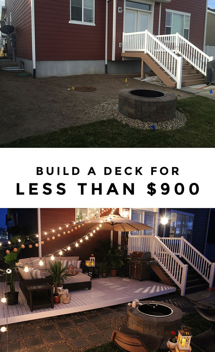 Deck Decor On A Budget Unique How to Build A Simple Diy Deck On A Bud