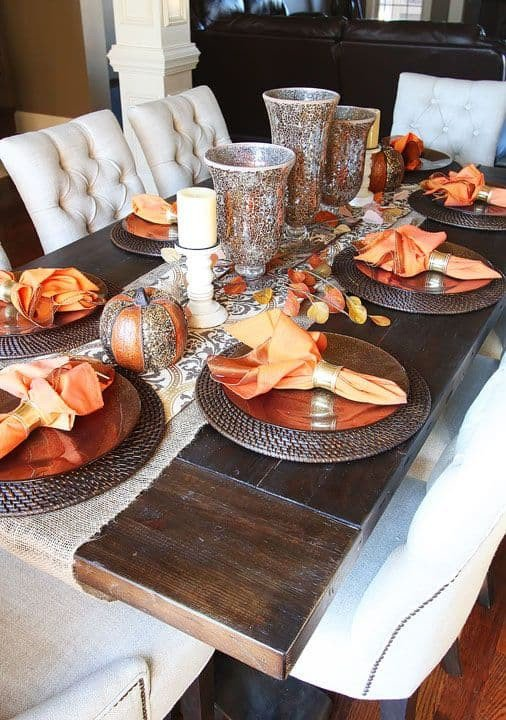 Decor for Dining Room Table Inspirational 25 Holiday Table Settings ⋆ Real Housemoms