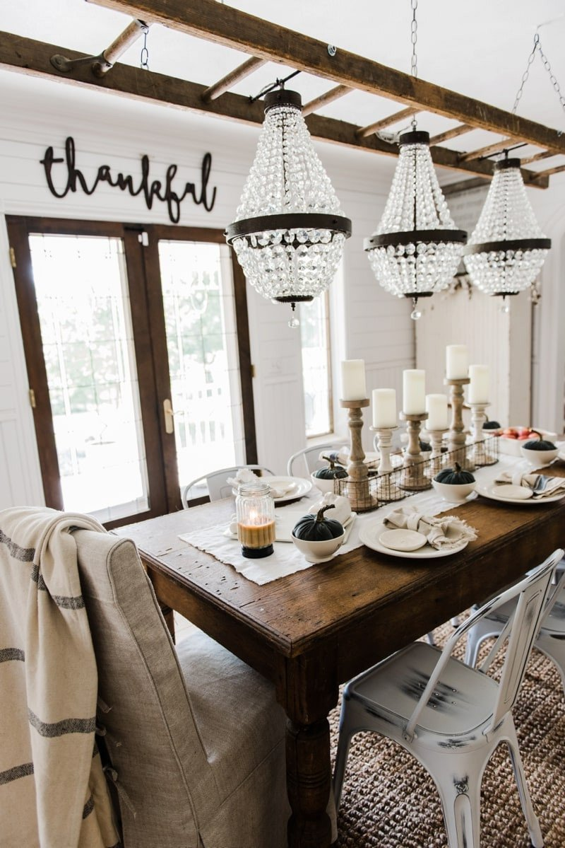 Decor for Dining Room Table Lovely Simple & Neutral Fall Farmhouse Dining Room