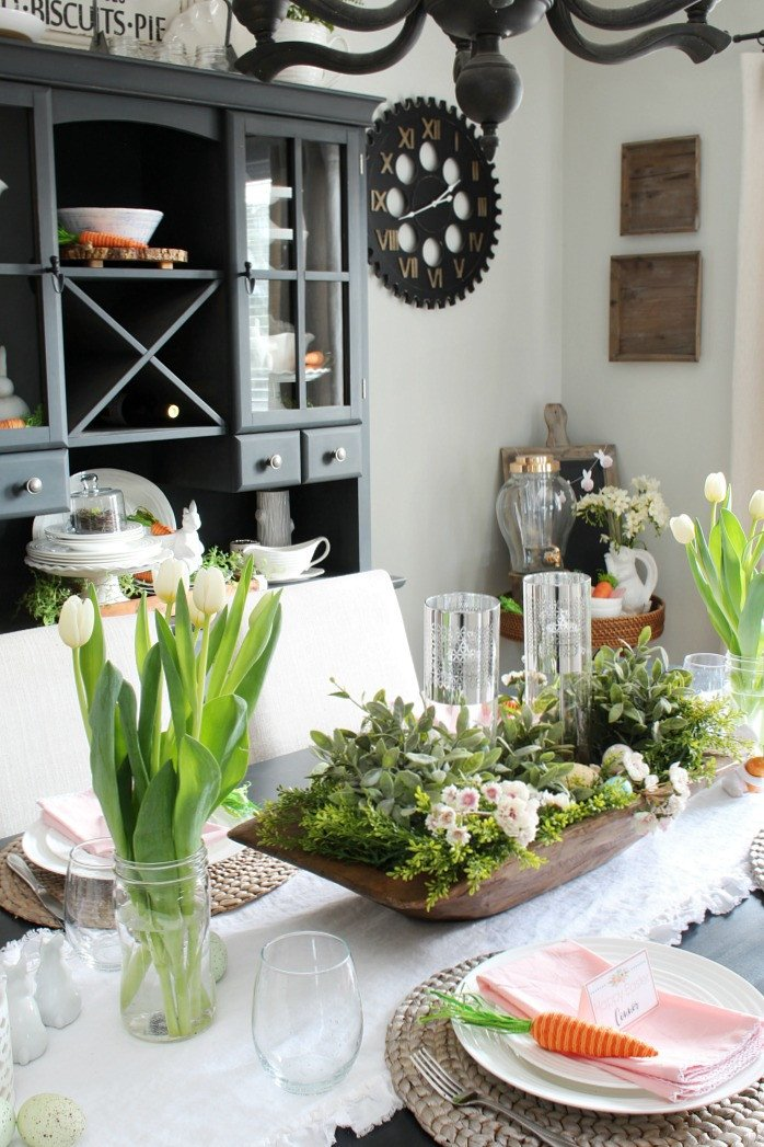 Decor for Dining Room Tables Lovely Spring Decorations for the Dining Room Clean and Scentsible