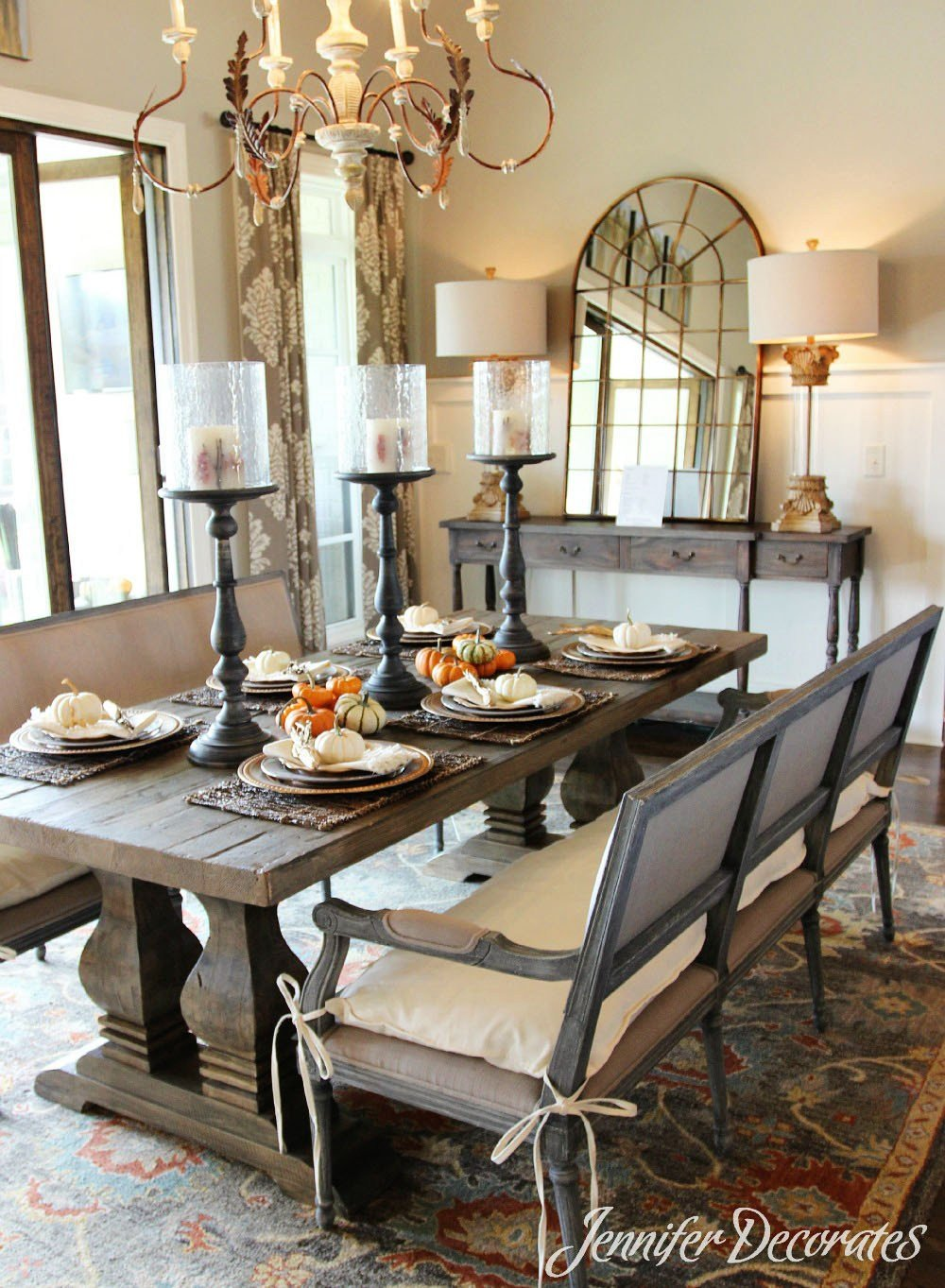 Decor for Dining Room Tables New Fall Table Decorations that are Easy and Affordable
