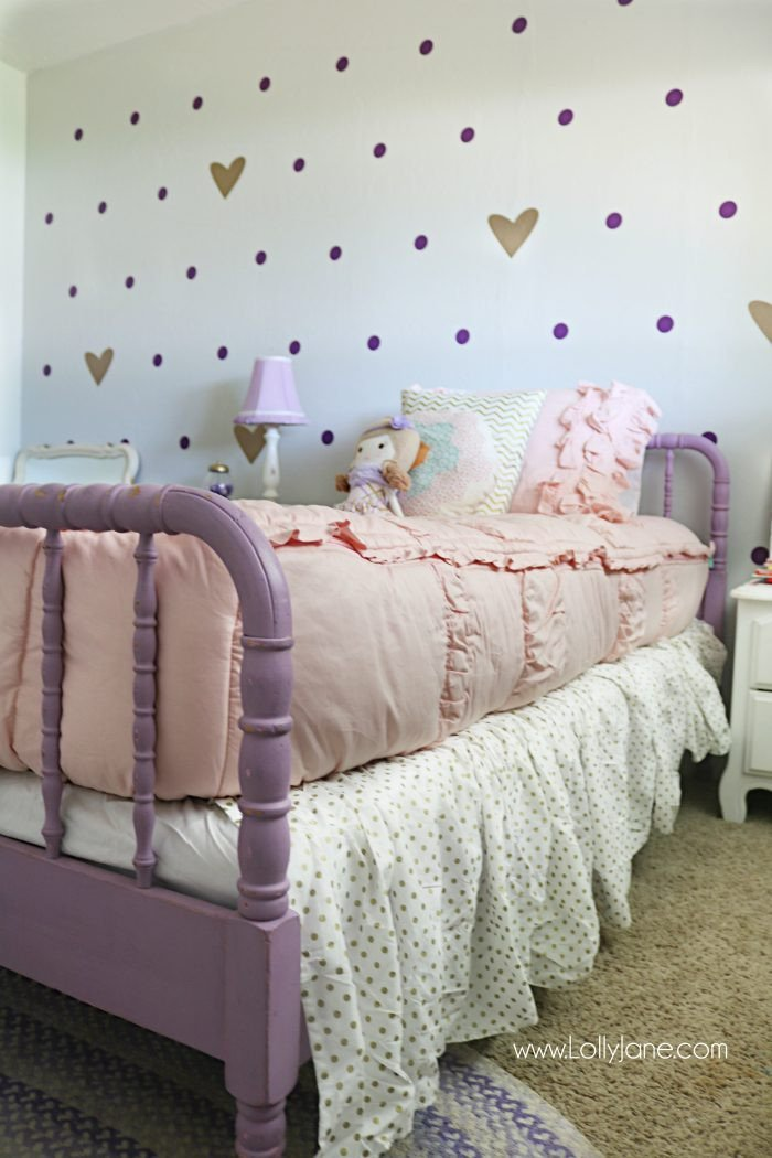Decor for Little Girls Rooms Awesome Little Girl Purple Gold Bedroom Makeover Lolly Jane