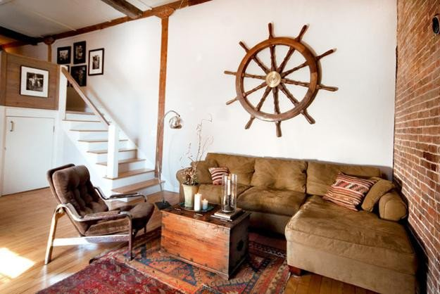 Decor for Living Room Wall Elegant Nautical Decor Ideas Enhanced by Vintage Ship Wheels and Handmade themed Decorations