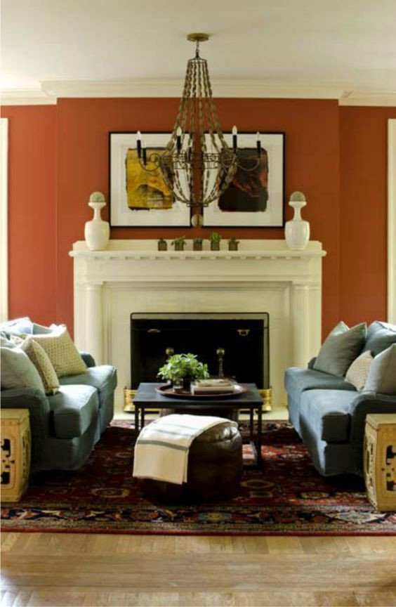 Decor for Living Room Wall New Burnt orange Wall Close Enough for Us Decorology Summer Living Room Décor Ideas