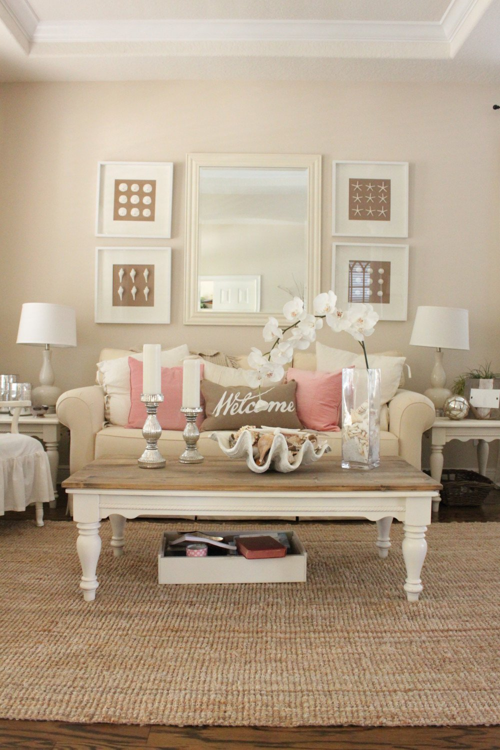 Decor for Small Living Room Awesome Pink Decor for Living Room and Dining Room Starfish Cottage