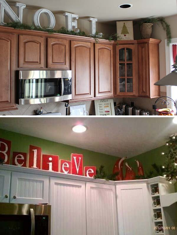 Decor Ideas Above Kitchen Cabinets Unique 20 Stylish and Bud Friendly Ways to Decorate Kitchen Cabinets