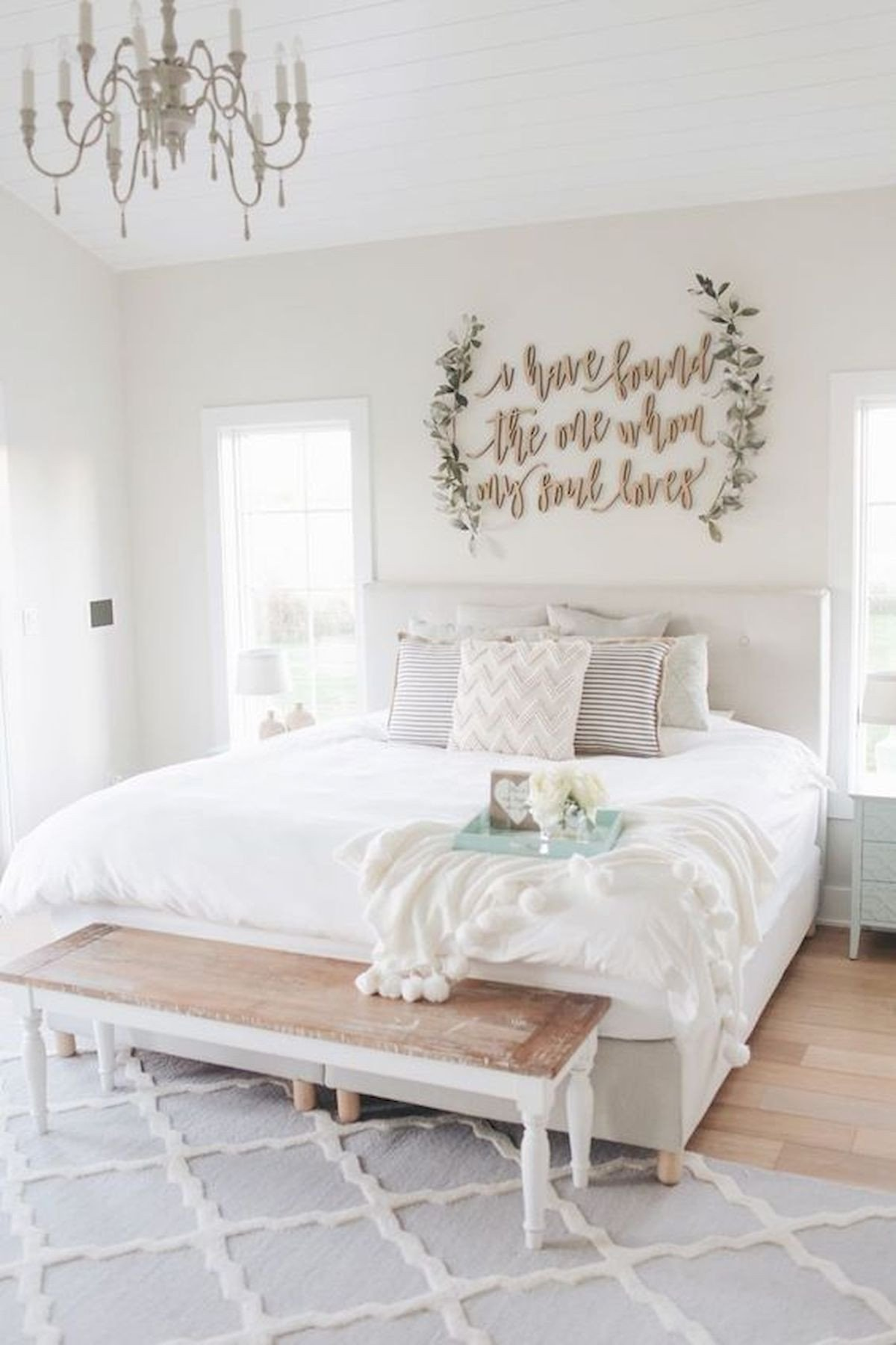 53 Best Farmhouse Wall Decor Ideas for bedroom Ideaboz