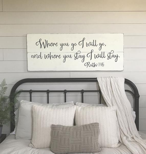 Decor Ideas for Bedroom Wall New Bedroom Wall Decor where You Go I Will Go Wood Signs