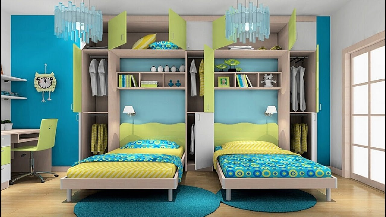 Decor Ideas for Boys Room Lovely Awesome Twin Bedroom Design Ideas with Double Bed for Boys Room Room Ideas