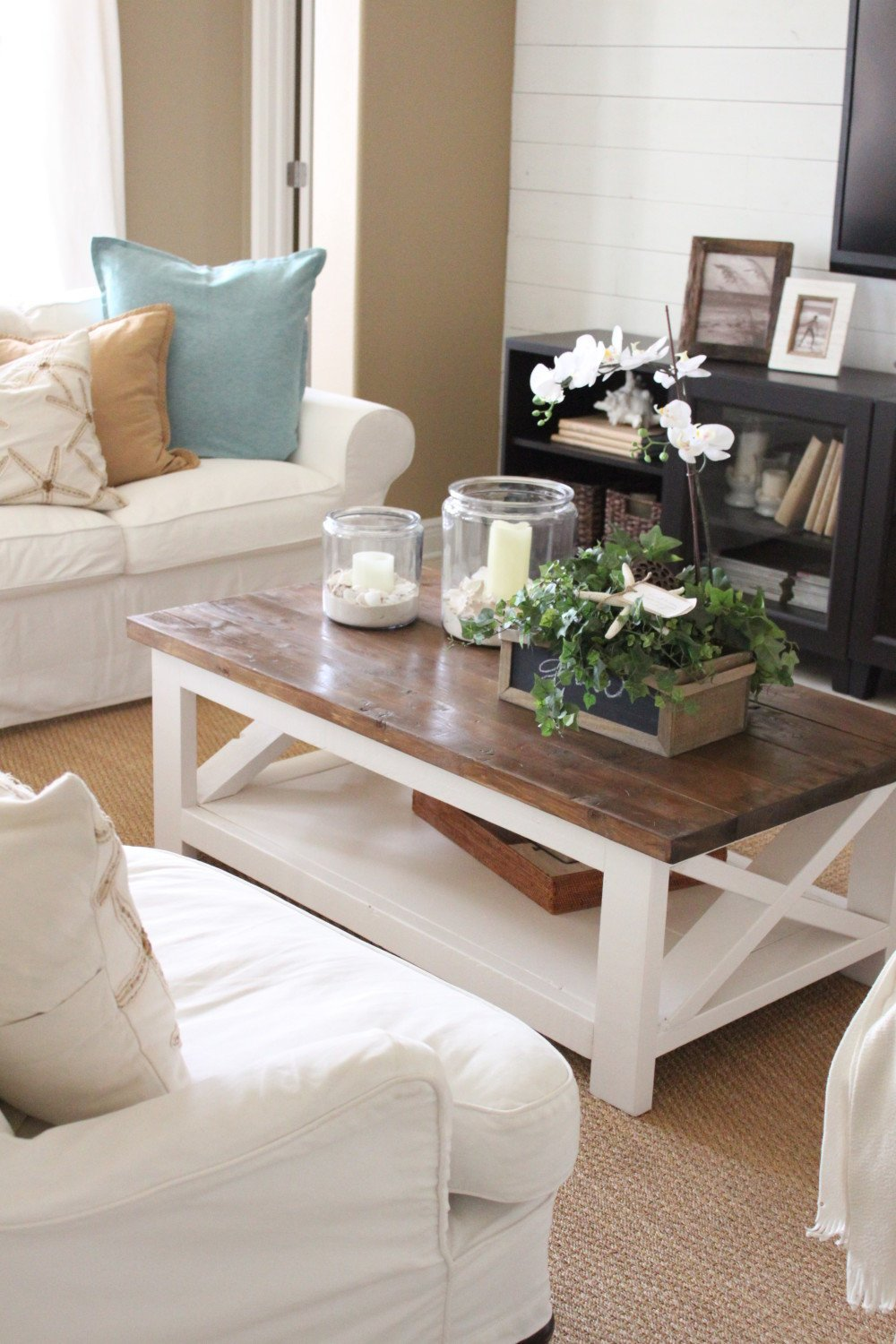 Decor Ideas for Coffee Tables Beautiful A New Rustic Coastal Coffee Table Starfish Cottage