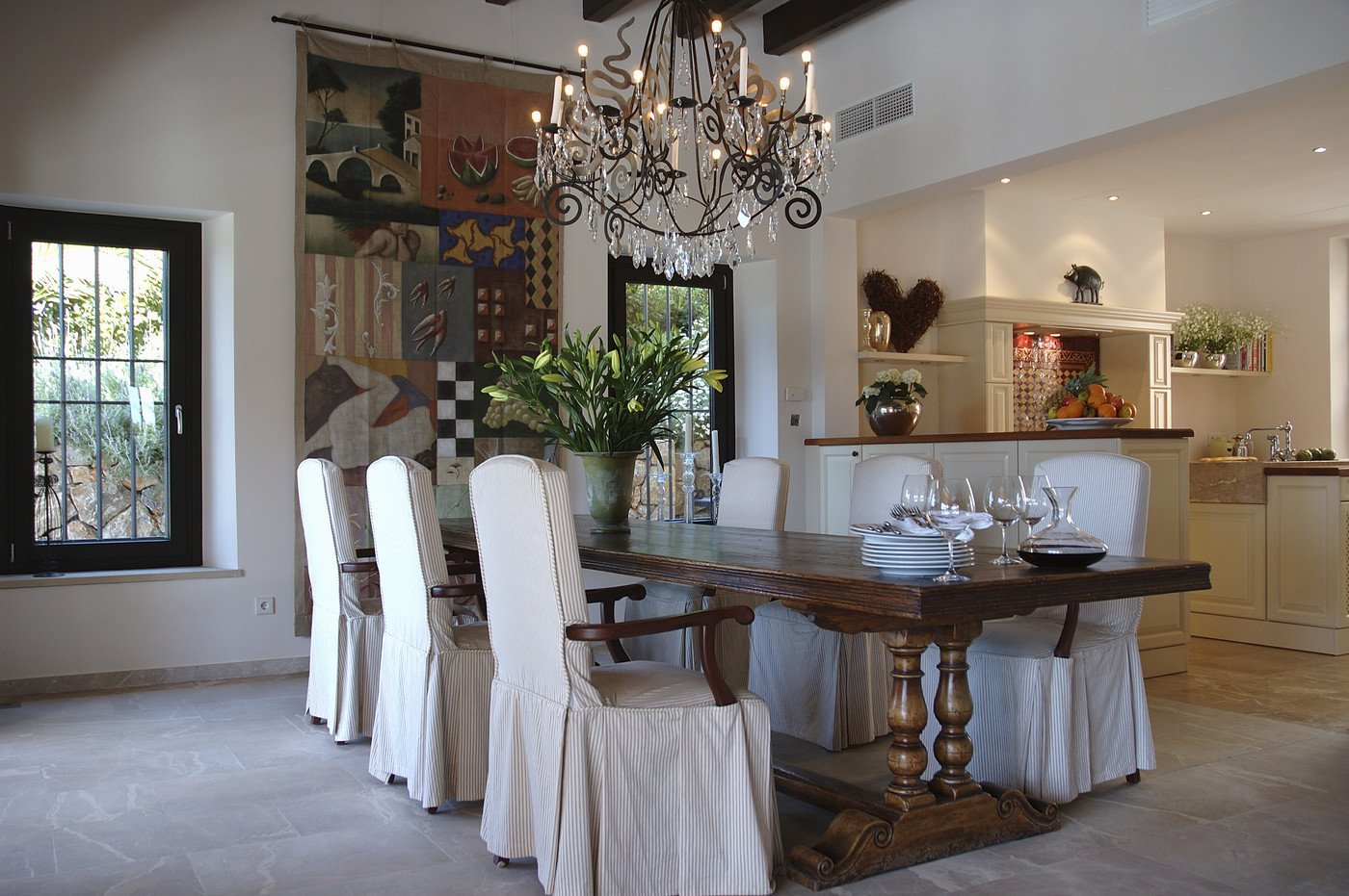 Decor Ideas for Dining Rooms New White Country Dining Room Dining Room Decorating Ideas Lonny