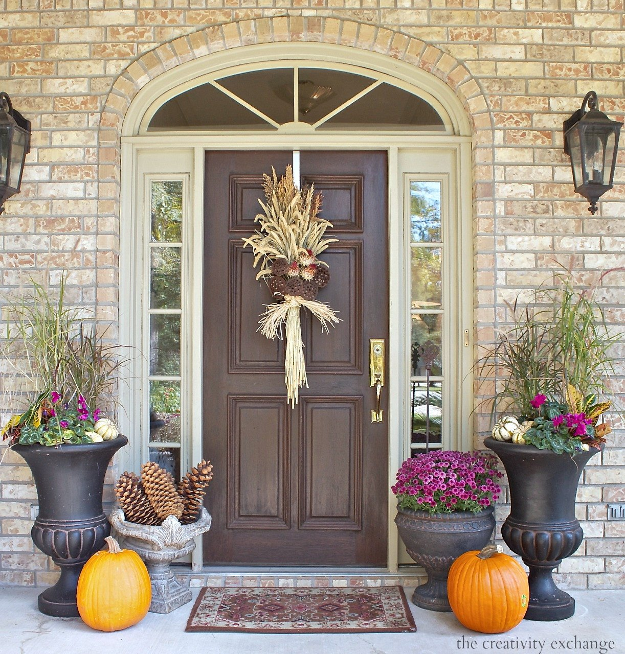 Decor Ideas for Front Porch Luxury Easy Fall Door Swag Using Dried Naturals