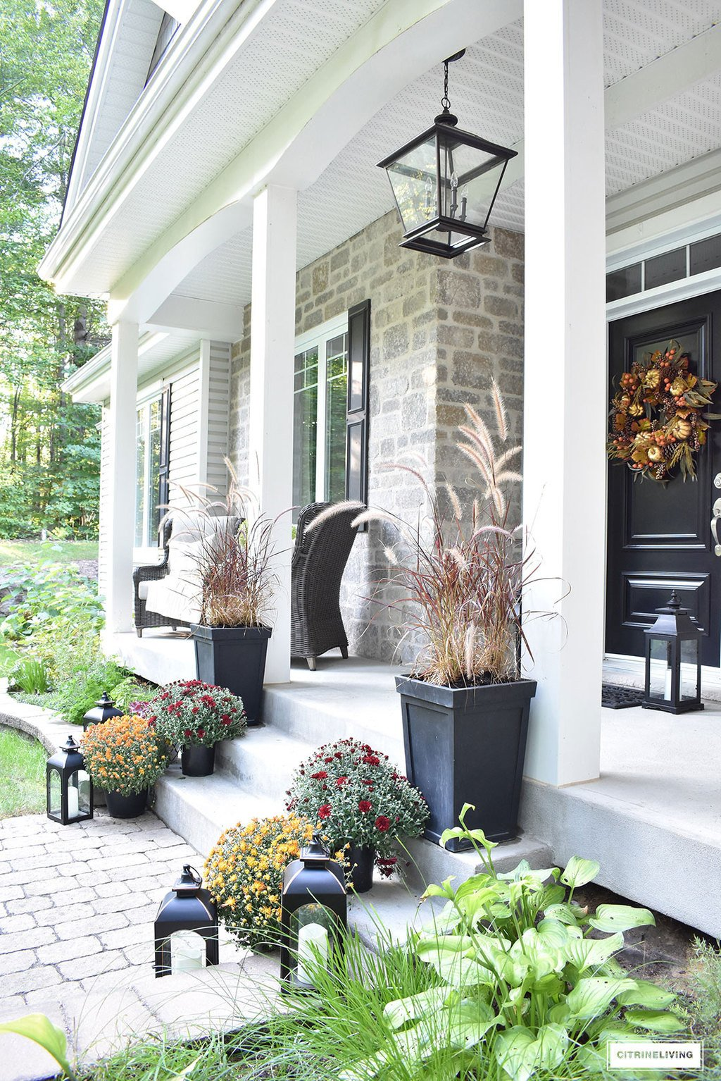 Decor Ideas for Front Porch New An Elegant Front Porch Decorated for Fall