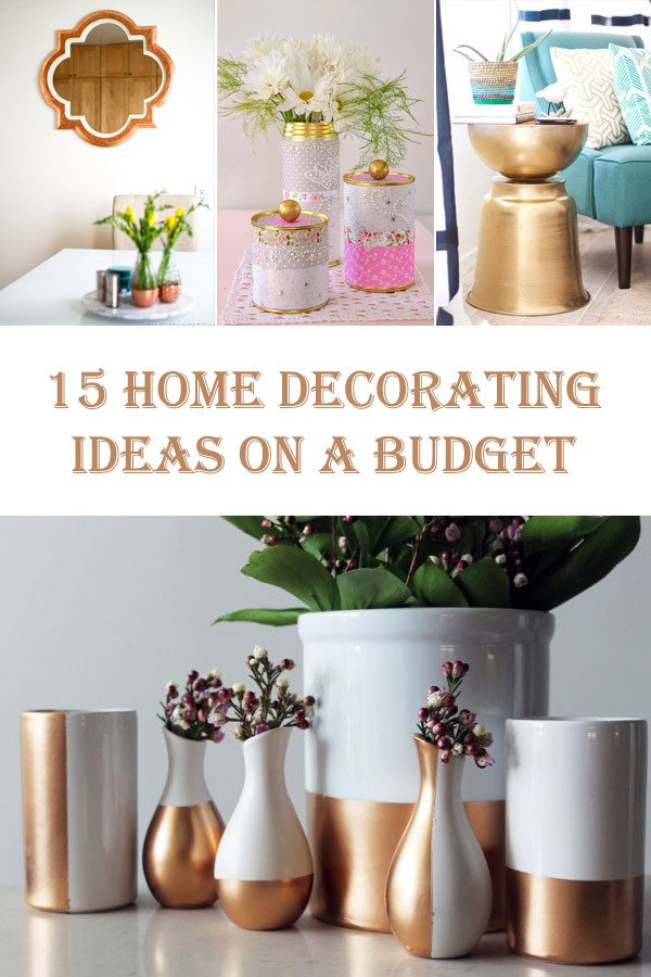 Decor Ideas On A Budget Awesome 15 Diy Home Decorating Ideas On A Bud – Diys to Do