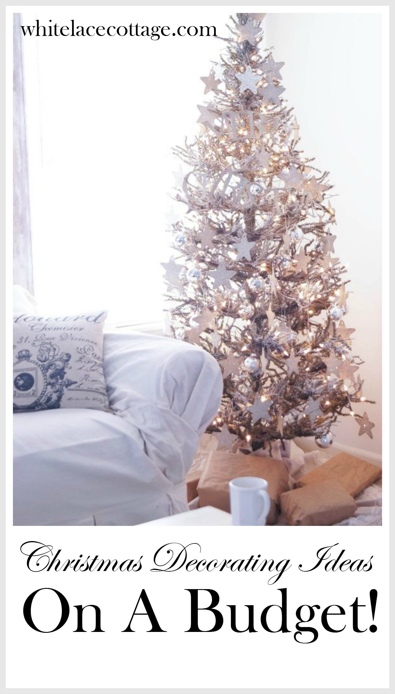 Decor Ideas On A Budget Awesome Christmas Decorating Ideas A Bud White Lace Cottage