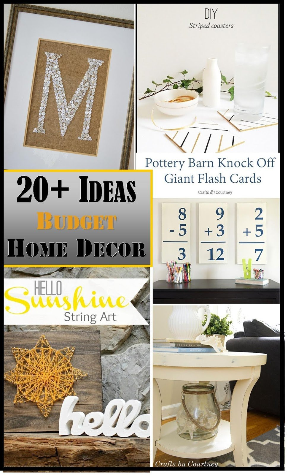 Decor Ideas On A Budget Luxury Decorating A Bud Ideas Plus the Creative Exchange Link Party Highlights